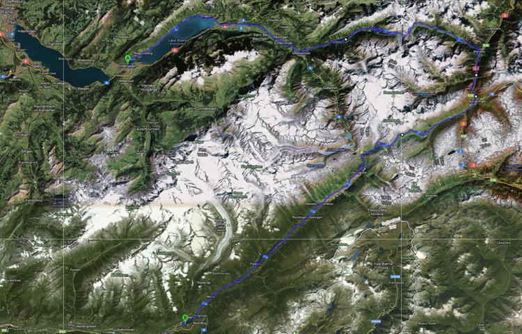 Interlaken to Brig via Susten and Furka Passes