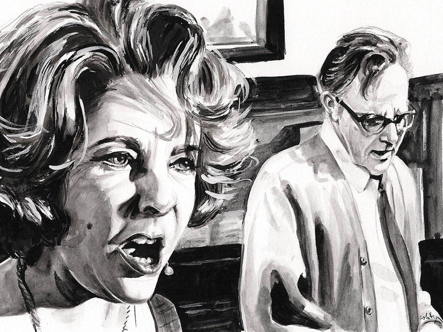 Who's Afraid of Virginia Woolf? | Drawing by Brianna Ashby for Bright Wall/Dark Room